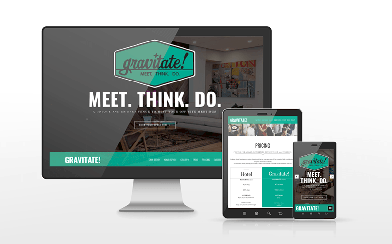 Gravitate ABQ Website Design