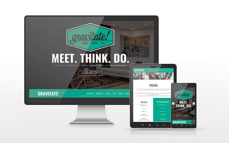Gravitate ABQ Website Design