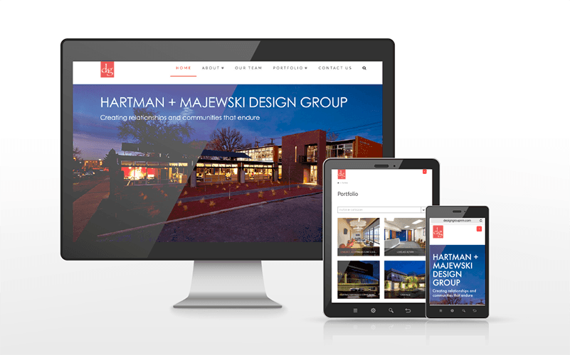 The Hartman + Majewski Design Group Website Build